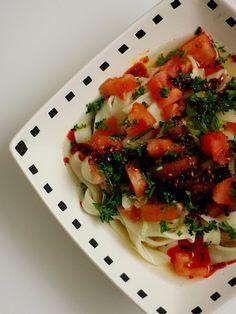 ほうとう:石垣島ラー油&パセリ&トマト(Noodle)