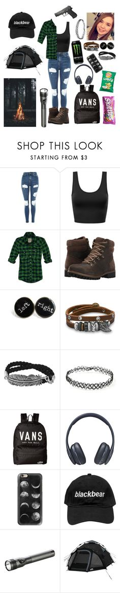 """""""Camping"""" by skatergurl58 ❤ liked on Polyvore featuring Topshop, Hollister Co., Timberland, BillyTheTree, Forever 21, Vans, Samsung, Casetify and Streamlight"""