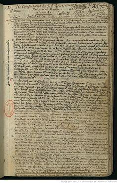 Manuscrito de Rousseau