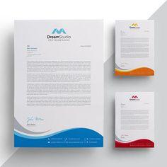 Modern company letterhead Template Company Letterhead Template, Letterhead Design, Graphic Design Flyer, Flyer Design, Letterhead Business, Curriculum Vitae, Marketing Flyers, Envelope Design, Corporate Identity