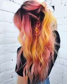 Really fun orange hair color that I& never seen before. I wü. - Really fun orange hair color that I& never seen before. Hair Dye Colors, Cool Hair Color, Creative Hair Color, Hair Day, New Hair, Girl Hair, Cheveux Oranges, Aesthetic Hair, Coloured Hair