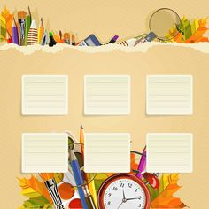 Back To School Wallpaper Powerpoint Background Design, Powerpoint Design Templates, Background Design Vector, Borders For Paper, Borders And Frames, Back To School Wallpaper, Timetable Template, 1 Clipart, School Border