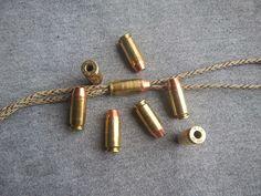 40 Cal Bullet Lanyard Beads