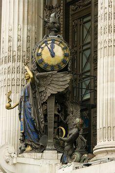 Clock on Selfridges department store, Oxford Street, London