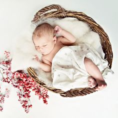 Süße Babyfotos im Winterlook |