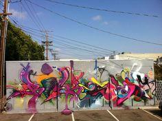 RISK X SMASH 137 Wall Los Angeles. #risk http://www.widewalls.ch/artist/risk/