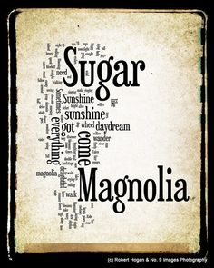 Sugar Magnolia Lyrics  Grateful Dead Word Art  Word by no9images, $15.00