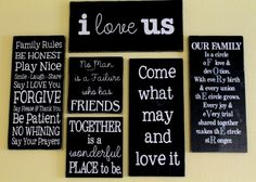 quote gallery wall