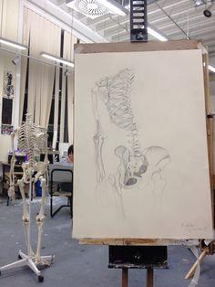 Pencil sketch - Skeleton 23/04/2013.