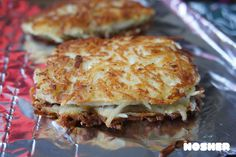 Latke-crusted chicken breasts! Perfect for Passover, Hanukkah or all year-round. Super moist, and quick to cook up.