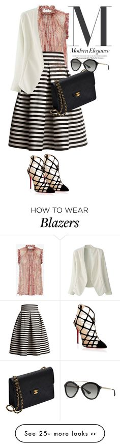 """bubur sumsum #indonesian_food"" by omahtawon on Polyvore featuring Zimmermann, Rumour London, Christian Louboutin, Chanel and Prada"