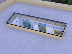 Insight skylights are available in five configurations. Each uses our structural glass technology to provide strength, performance and clarity. Skylight Glass, Skylight Design, Glass Roof, Small Balcony Design, Terrace Design, Roof Design, Metal Roof Cost, Flat Roof Materials, Flat Roof Skylights