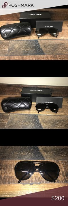 Chanel Glasses Gorgeous glitter lenses Includes original box, case, lens cloth and info booklet  Excellent condition Also have receipt from when I purchased them at Saks Fifth Avenue in NOLA! CHANEL Accessories Glasses