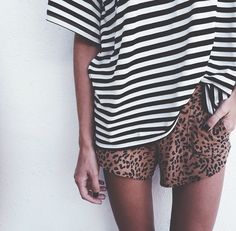 striped and leopard