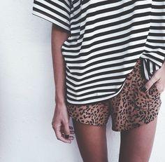 animal print and stripes