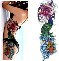 Full Arm Tattoo Stickers Large Flower Shoulder Fake Tattoos Sleeve For Man Body Paint Death Fake Tattoos, Body Tattoos, Tattoos For Guys, Tattoos For Women, Tattoos Pics, Tattoo Images, Tattoos Gallery, Tattoo Drawings, Fake Tattoo Sleeves