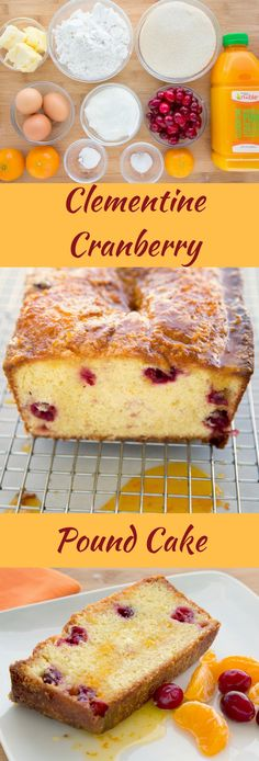 You'll love my Clementine Cranberry Pound Cake  Recipe with a Clementine Glaze.  It's perfect for your next brunch, breakfast or dessert!