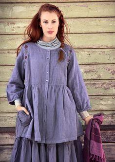 Plaid linen/cotton blouse – Mini-checks & stripes – GUDRUN SJÖDÉN – Webshop, mail order and boutiques | Colorful clothes and home textiles i...