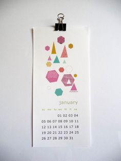2014 Geometric Calendar wall calendar 2014 par mademoiselleyo