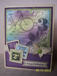 I love the collage image of Postage Due stamp set and with a card like this carries that theme out beautifully