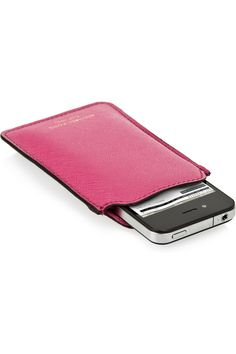 MICHAEL MICHAEL KORS  Textured-leather iPhone sleeve  £33.33