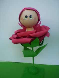 Fofucha Rosa do Pequeno Príncipe Cute Crafts, Diy Crafts, Clown Party, Arte Floral, Foam Crafts, Craft Tutorials, Doll Toys, Paper Art, 3 D