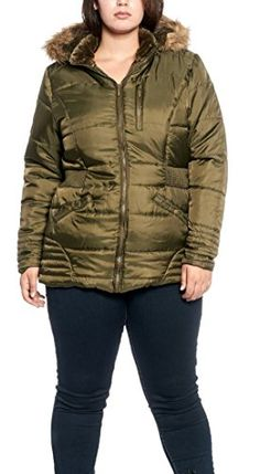 4067ac23 Womens Plus Size Quilted Sherpalined Anorak Parka Jacket with Removable Faux  Furtrimmed Hood Olive 3XL *** Check out this great product. (Note:Amazon ...