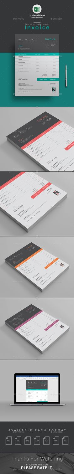 #Invoice - #Proposals & Invoices Stationery Download here: https://graphicriver.net/item/invoice/15468166?ref=alena994