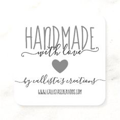 $31.30 · Handmade With Love Etsy Home Crafter Art Fair Square Business Card Home Business Opportunities, Art Fair, Business Cards, Handmade, Etsy, Lipsense Business Cards, Hand Made, Visit Cards, Carte De Visite