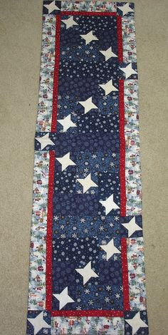 friendship runner pattern | STARRY SNOWY NIGHT friendship stars quilted table runner pattern ...