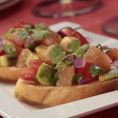Grapefruit Avocado Bruschetta - Florida grapefruit and avocado give classic bruschetta a fun twist.