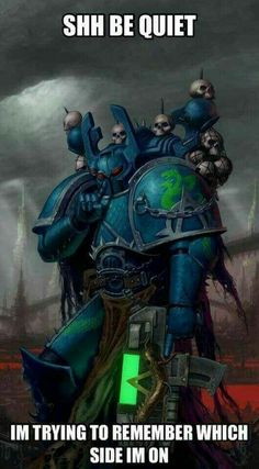 The Alpha Legion is to Chaos what the Dark Angels are to the Imperium Warhammer 40k Memes, Warhammer Art, Warhammer Fantasy, Warhammer 40000, Starwars, Cosplay Anime, Sci Fi Characters, Marvel, Space Marine