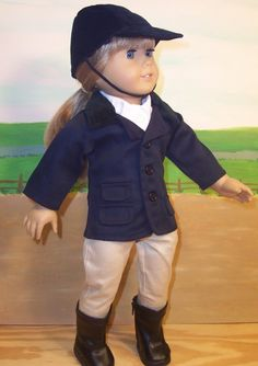 Horse Riding Clothes for American Girl Doll or 18 Inch Doll