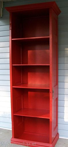 Bookshelf made out of old doors!