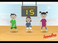 Fitness exercises, flash cartoon animation production (00:2:34 minutes)