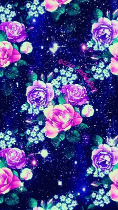Sweet flowers galaxy wallpaper I created for the app CocoPPa!