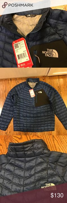 NWT North Face Men Thermoball Down Jacket Pullover 100% authentic and brand new. Half Zip jacket loose fit. Stow away chest pocket. $160 price tag is still attached. Extremely soft and light. Not down filled, it's the More expensive Thermoball!!!! NWT!! ♡Unlike other sellers who would raise the price and ask you to make an offer, I set the price way below the original price for a fast and easy Buy It Now transaction here. And if you still want to save a bit more, simply check out my other…