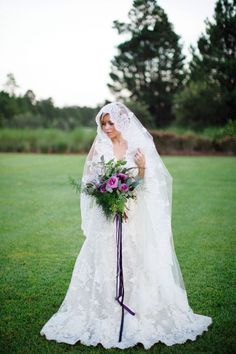 Vintage Inspired Lavender Wedding by French Knot Studios