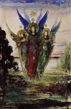 Gustave Moreau (French, 1826-1898). Evening Voices, ca. 1885. Musée Gustave Moreau, Paris, France