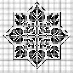 Octogonal 06   Free chart for cross-stitch, filet crochet   gancedo.eu