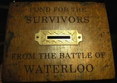 C1815 Napoleonic War Battle of Waterloo Carved Donation Box for Survivors Fund