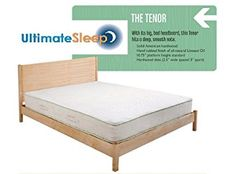 The Tenor Solid Wood Bed Frame – Oak, Maple, Cherry or Walnut – in Twin, TwinXL, Full, Queen, King or Cal King Size, Made in USA (Maple, Twin) Review