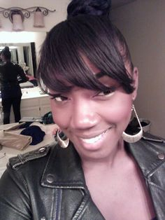 Banging!  Clip on bangs I made