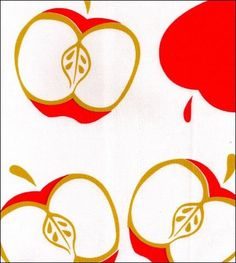 48x48 Mod Apple Red Hand Scalloped Oilcloth  Floor Mat Splat mat or Tablecloth on Etsy, $18.00