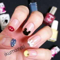 44 Ideas nails art designs disney nailart - Home Diy Nails, Cute Nails, Pretty Nails, Nail Art Disney, Disney Gel Nails, Simple Disney Nails, Mickey Nails, Nagel Hacks, Best Nail Art Designs