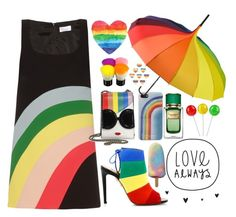 """""""🌈🌈🌈🌈🌈"""" by xmoonagedaydreamx ❤ liked on Polyvore featuring RED Valentino, Marc Jacobs, Aquazzura, Pastease, Alice + Olivia, Dolce&Gabbana and pride"""
