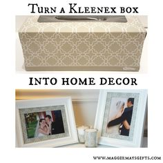 Use a Kleenex Box for Home Decor!