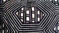 Indigenous painting on cloth. UXUA, Trancoso, Brazil.