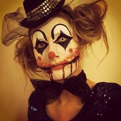 Creepy girl clown