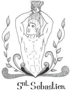Merry Christmas Digital Illustration by Tizito #Sexy #Illustration #Ilustracion #IlustraciónDigital #StSebastien #SanSebastian #SexyHunk #Hunk